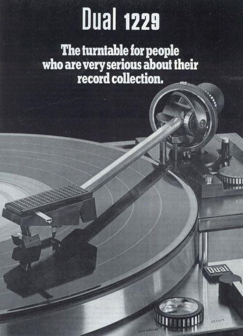 Dual vintage turntable ad