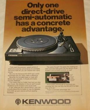 Kenwood Vintage Turntable ad