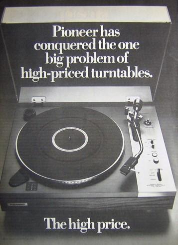 Pioneer Vintage Turntable ad