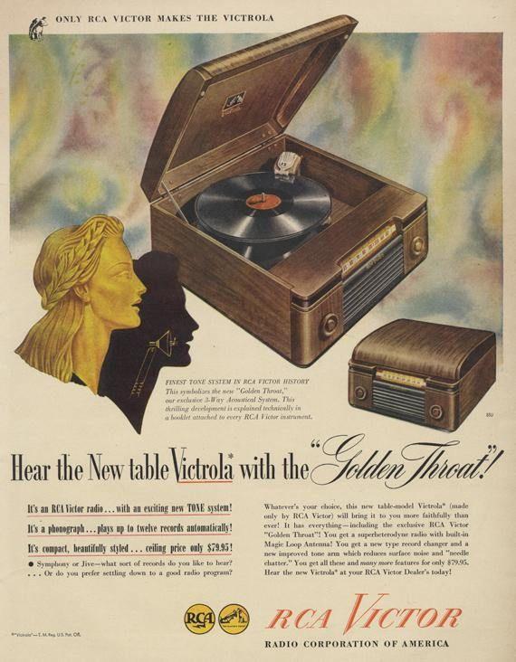 RCA Vintage Turntable ad