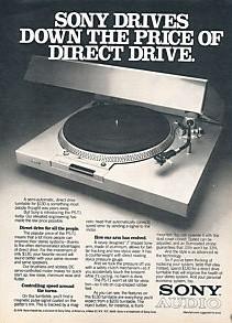 Sony vintage Turntable ad