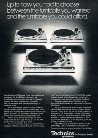 Technics Vintage Turntable ad